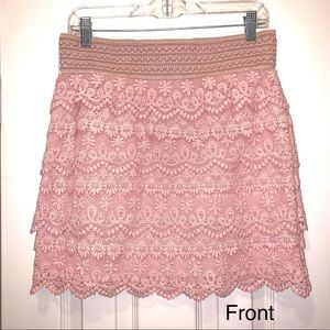 Blush color lace skirt